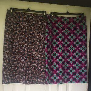 Lularoe Cassie skirts lot of 2 SZ small